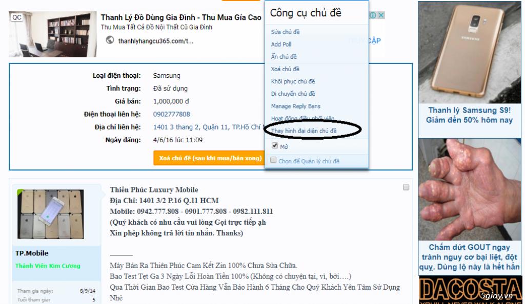 Hướng dẫn thay hình chủ đề trên bài viết  tới tất cả Members 5giay.vn - 1