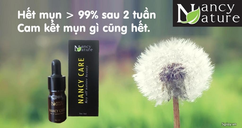 Serum Nancy care với 100% tinh chất thiên nhiên giúp trị mụn an toàn