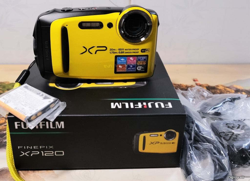 Bán máy chụp dưới nước Fujifilm XP120 vàng 99.9% - 1