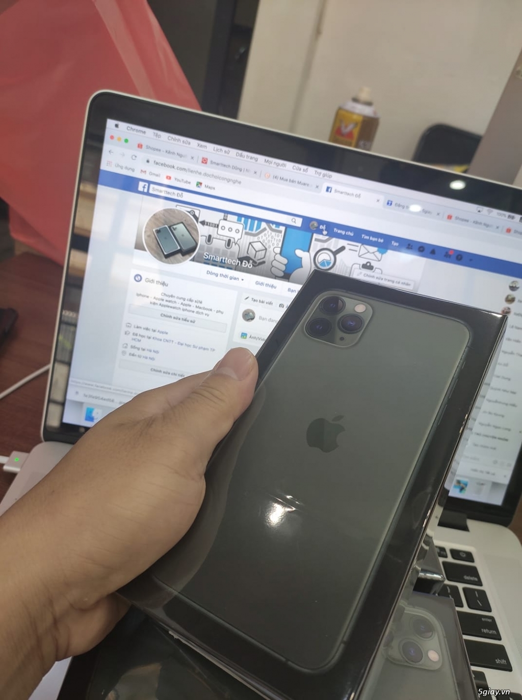 Iphone 11 Pro Max 256gb Green mới 100%,chữa active - 1