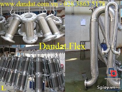 Khớp nối mềm chống rung mặt bích, ống chống rung inox, khop gian no - 16