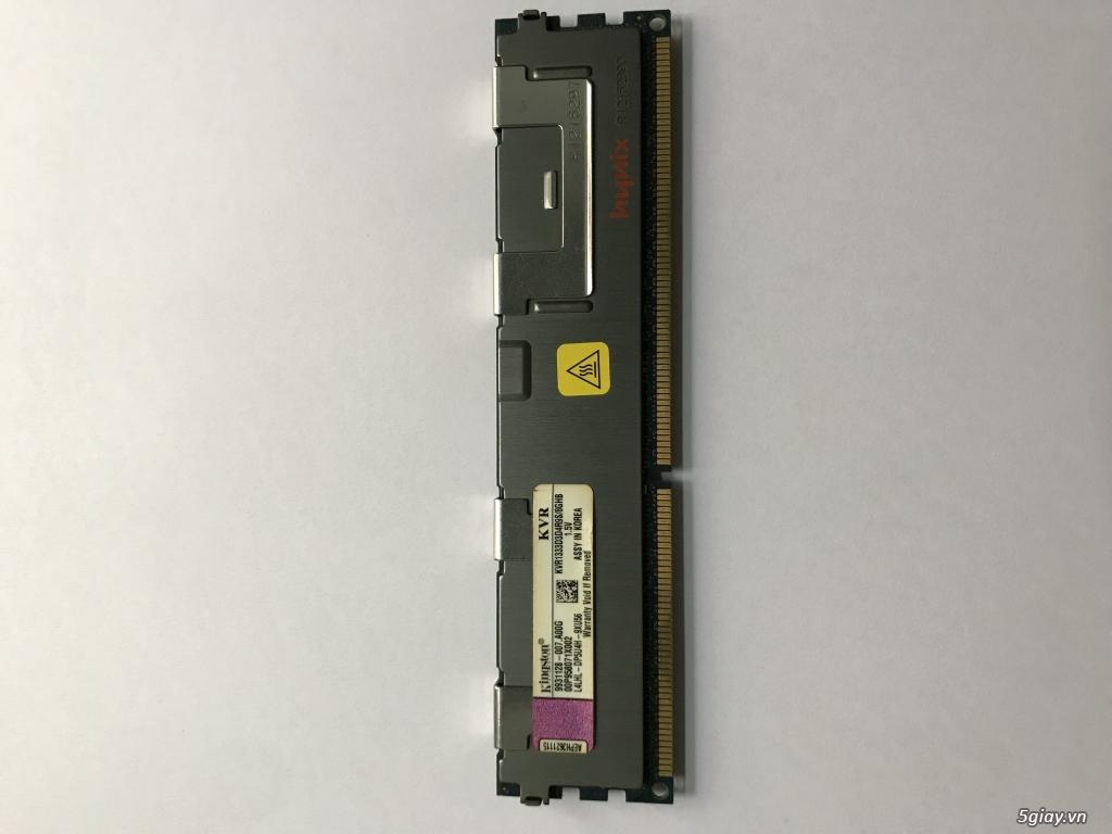 A: Ram pc DDR3 8GB 1333MHZ KINGSTON tản nhiệt HYNIX End: 23h ngày 28-09-2019 - 1