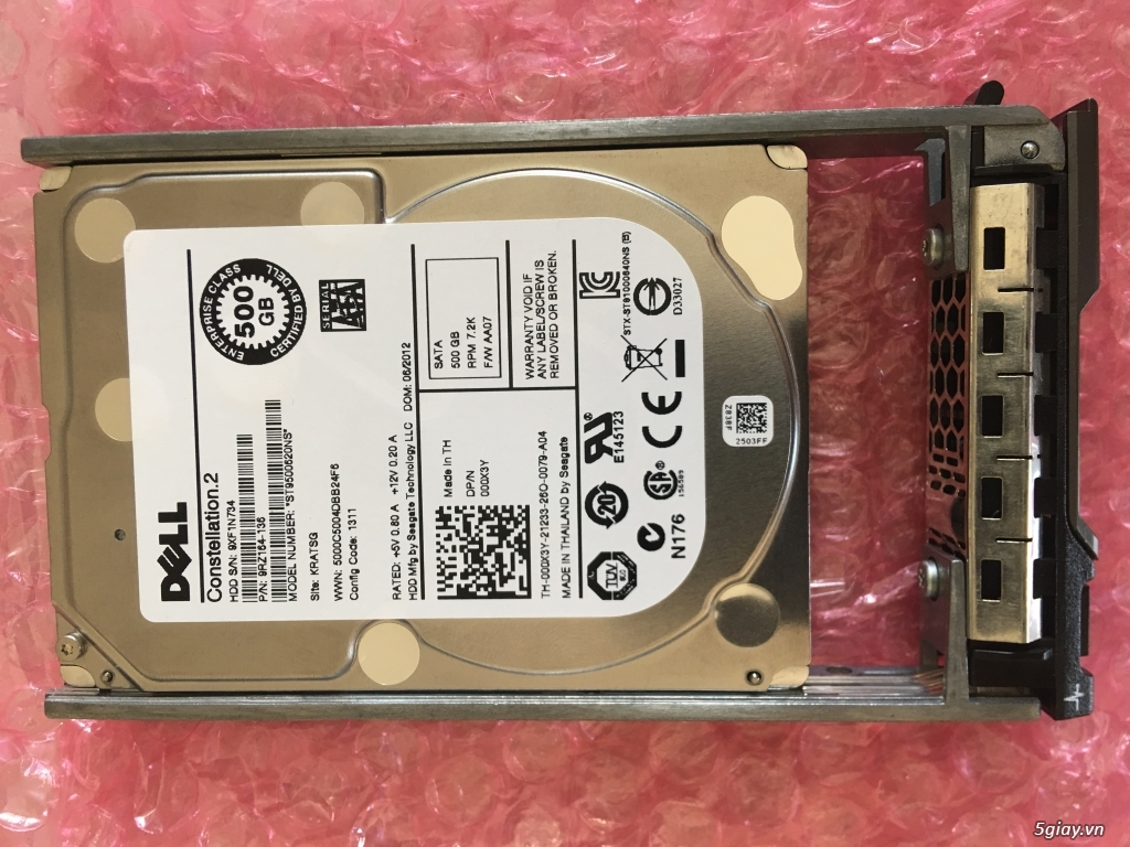 HDD + Tray Server Dell 500gb 7.2K Sata 2.5″
