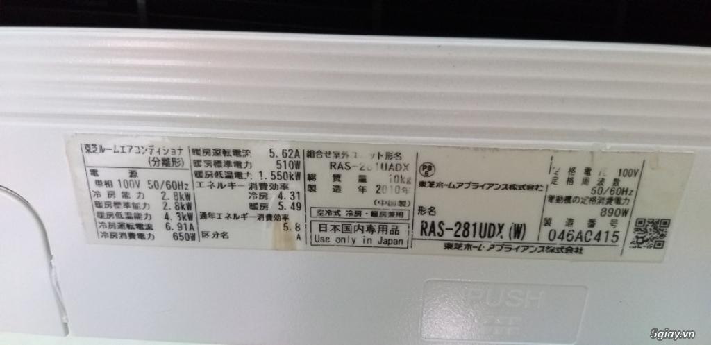 Máy lạnh cũ Toshiba 1.5hp có hiển thị nhiệt độ - 3
