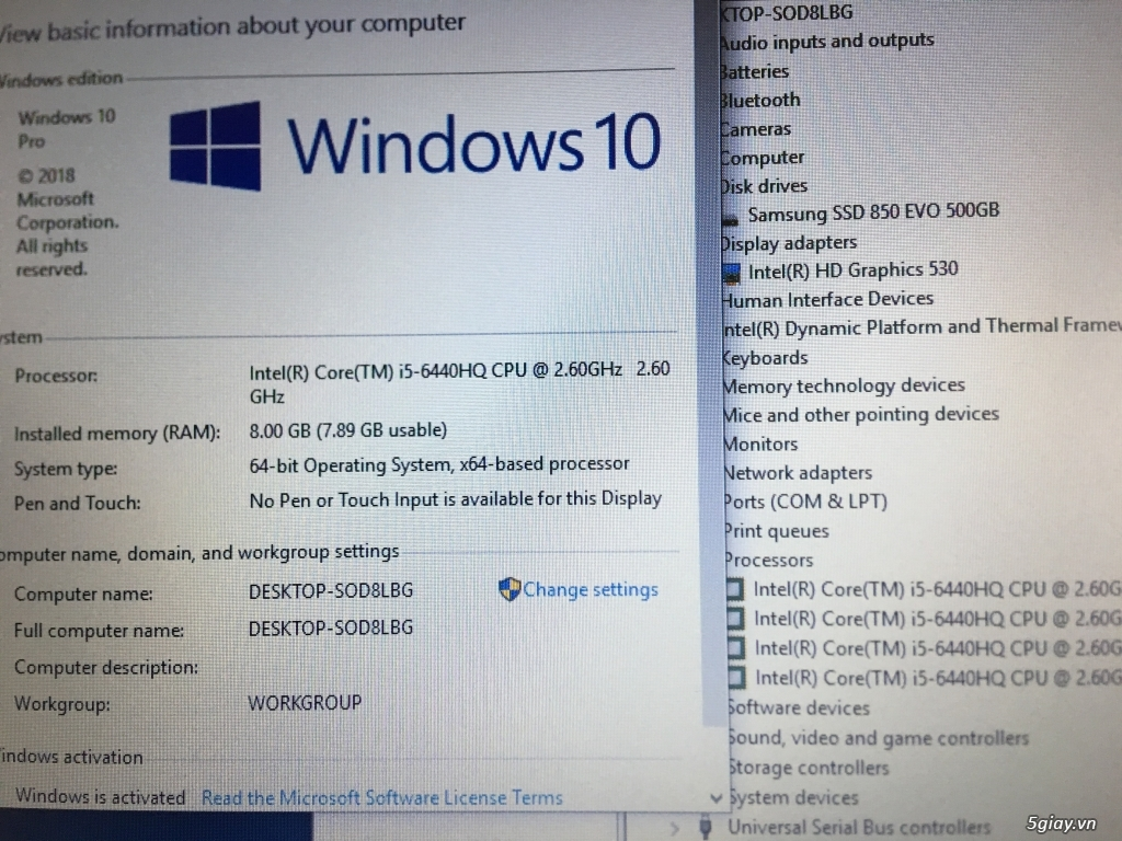 Dell Latitude e5470-6440HQ-6MB cache, 8g, 500g ssd, US zin
