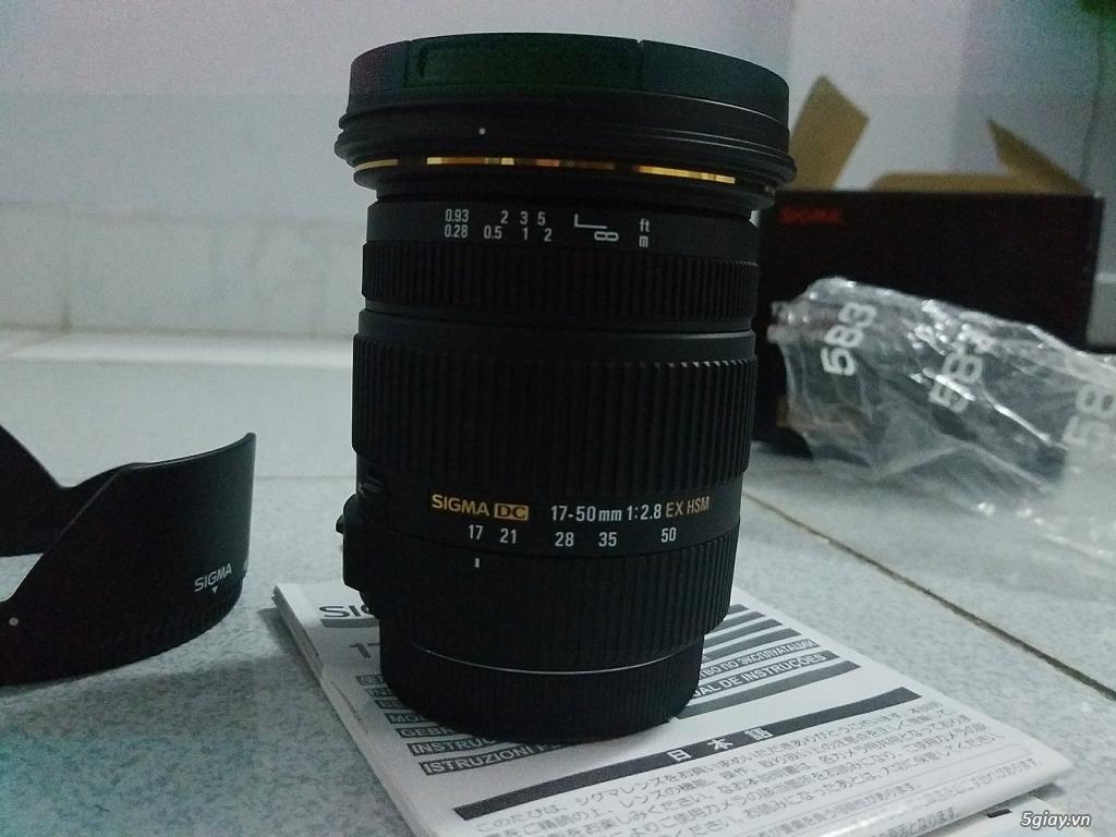 Cần Bán len Sigma 17-55 for Canon 100% - 2