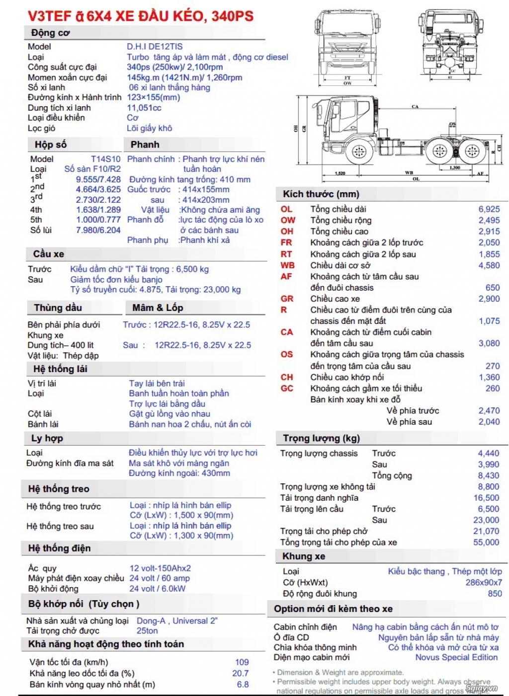 Bán xe đầu kéo DAEWOO 2015 đã qua sử dụng - Giá tốt ! - 7