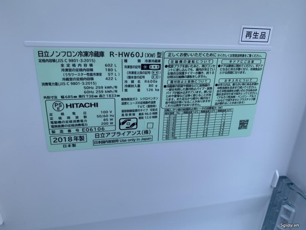 Tủ lạnh Hitachi R-HW60J 600L Màu trắng,Date 2018, Full box, mới 100% - 7