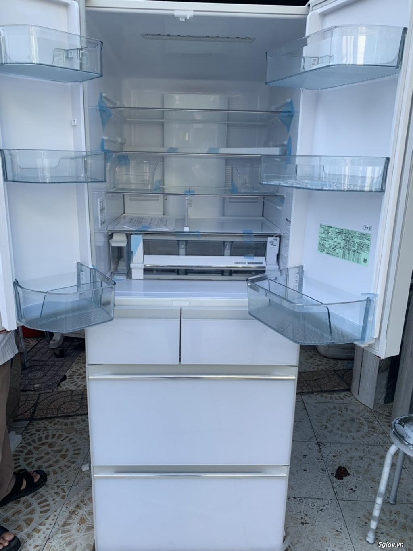 Tủ lạnh Hitachi R-HW60J 600L Màu trắng,Date 2018, Full box, mới 100% - 4