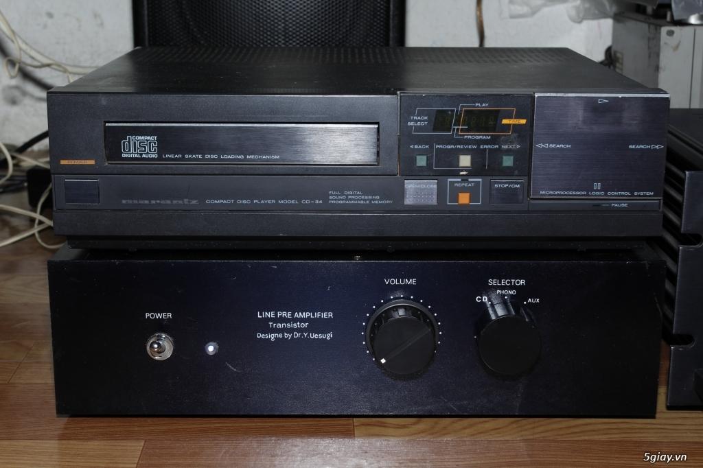 CD Marantz 34, Pre amplier Hiend vintage UESUGI - 1