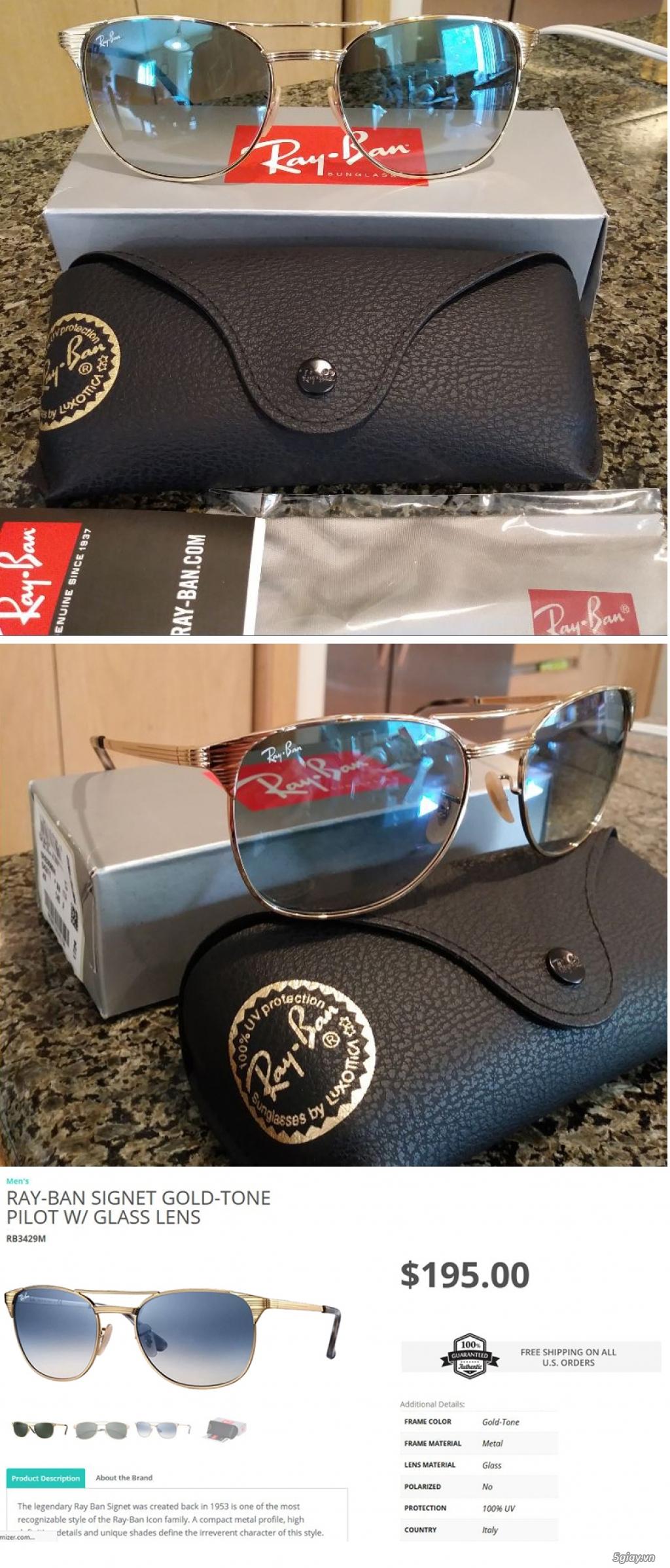 Những Mắt Kính Đẹp & Sang Trọng chính mình xách tay/gửi từ Mỹ về.  Armani, D&G, Prada, Ray-Ban, Polo - 12