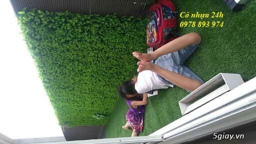 Cỏ nhựa trang trí tường, cỏ nhân tạo giá rẻ tại Hà Nội - 1