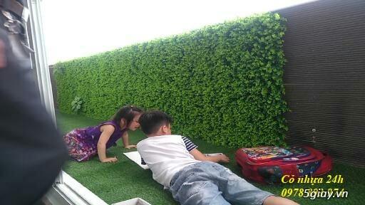 Cỏ nhựa trang trí tường, cỏ nhân tạo giá rẻ tại Hà Nội - 2
