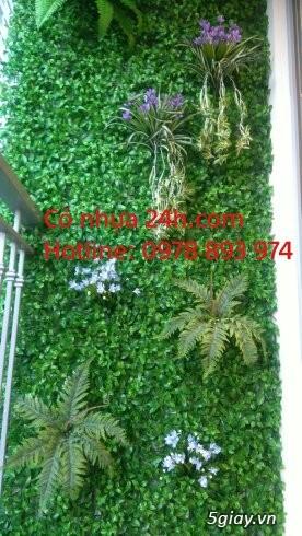 Cỏ nhựa trang trí tường, cỏ nhân tạo giá rẻ tại Hà Nội - 3