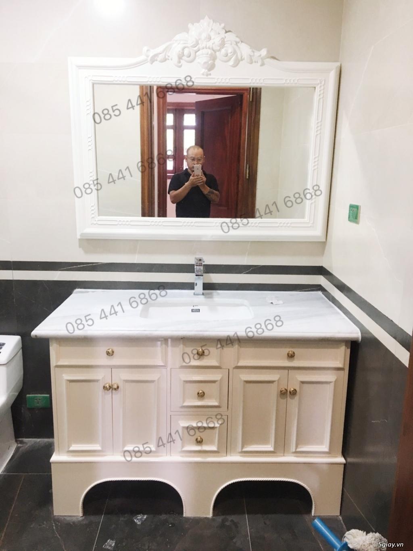 Bán tủ chậu lavabo tân cổ điển, hiện đại, tủ chậu mặt đá phòng tắm - 22
