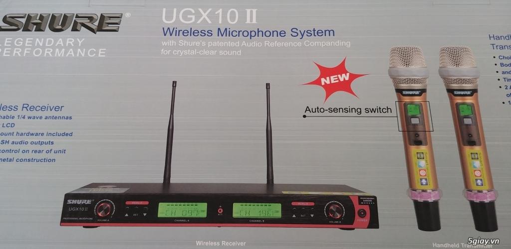 Micro karaoke không dây Shure UGX10ll và UGX20ll . - 1