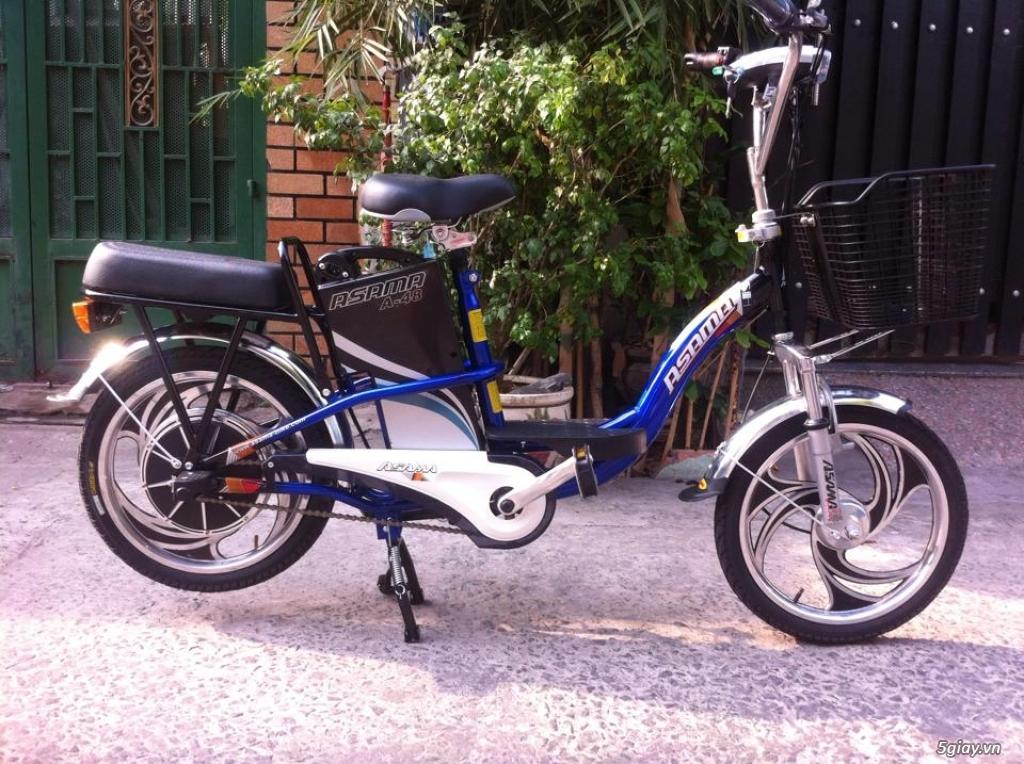 Xe đạp điện Asama màu xanh, bảo hành còn hơn 10 tháng . - 1