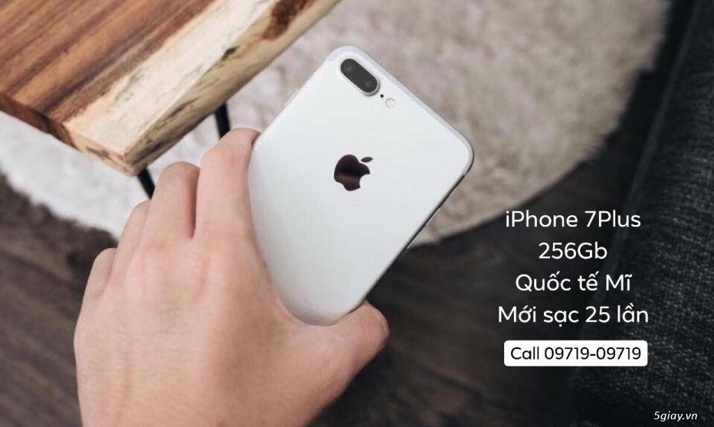 iPhone 7Plus 256gb SILVER quốc tế Mĩ mới sạc 25 lần quá ngon !!