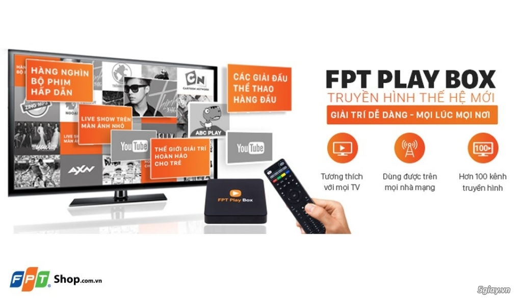 FPT PLAY BOX 4K + Remote Voice FPT