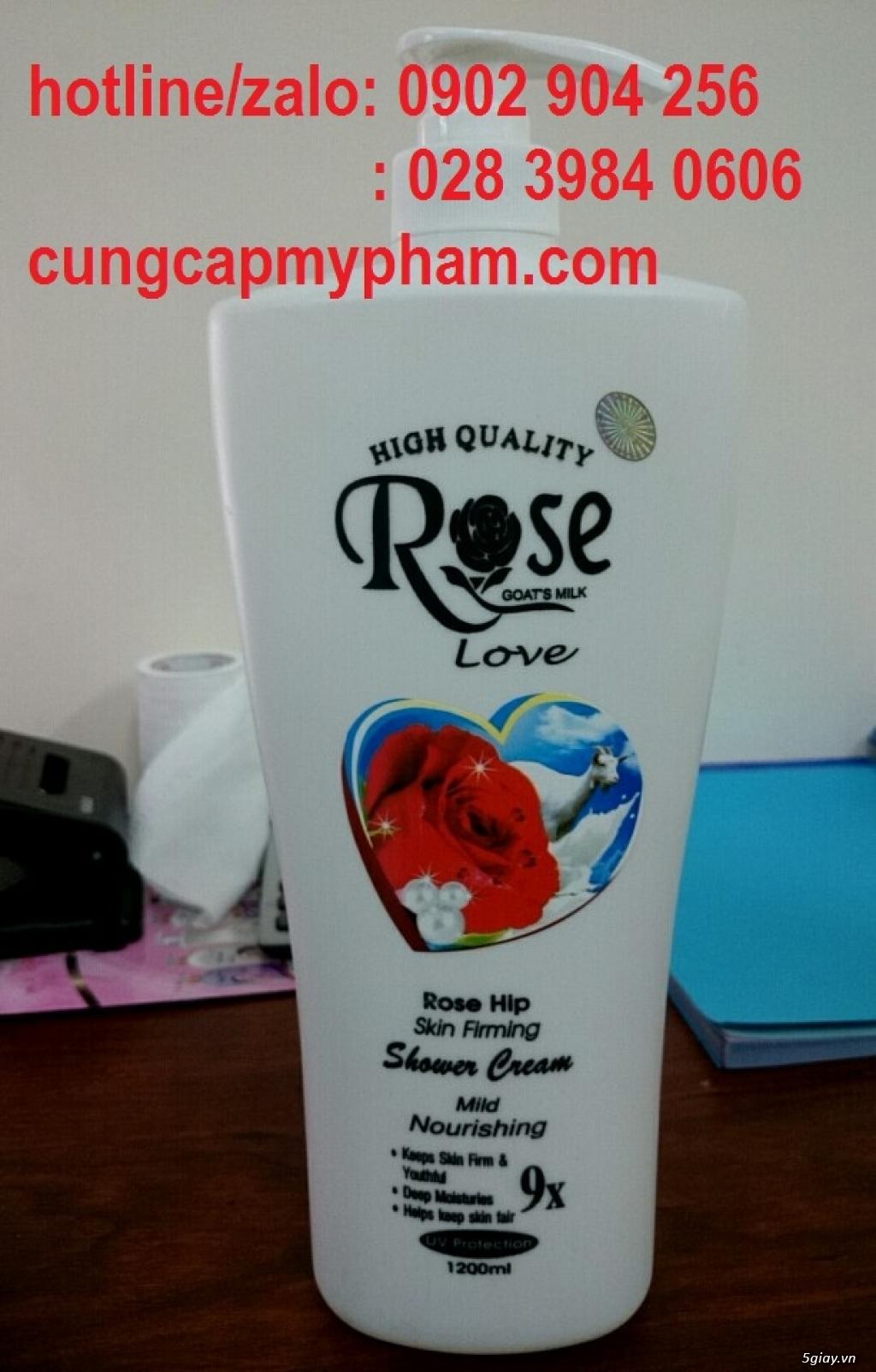 Sữa tắm Rose thể tích 1200ml/ chai - 1