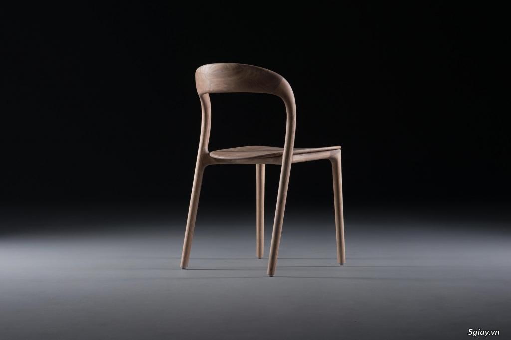 Ghế Neva không tay phiên bản gỗ cao su