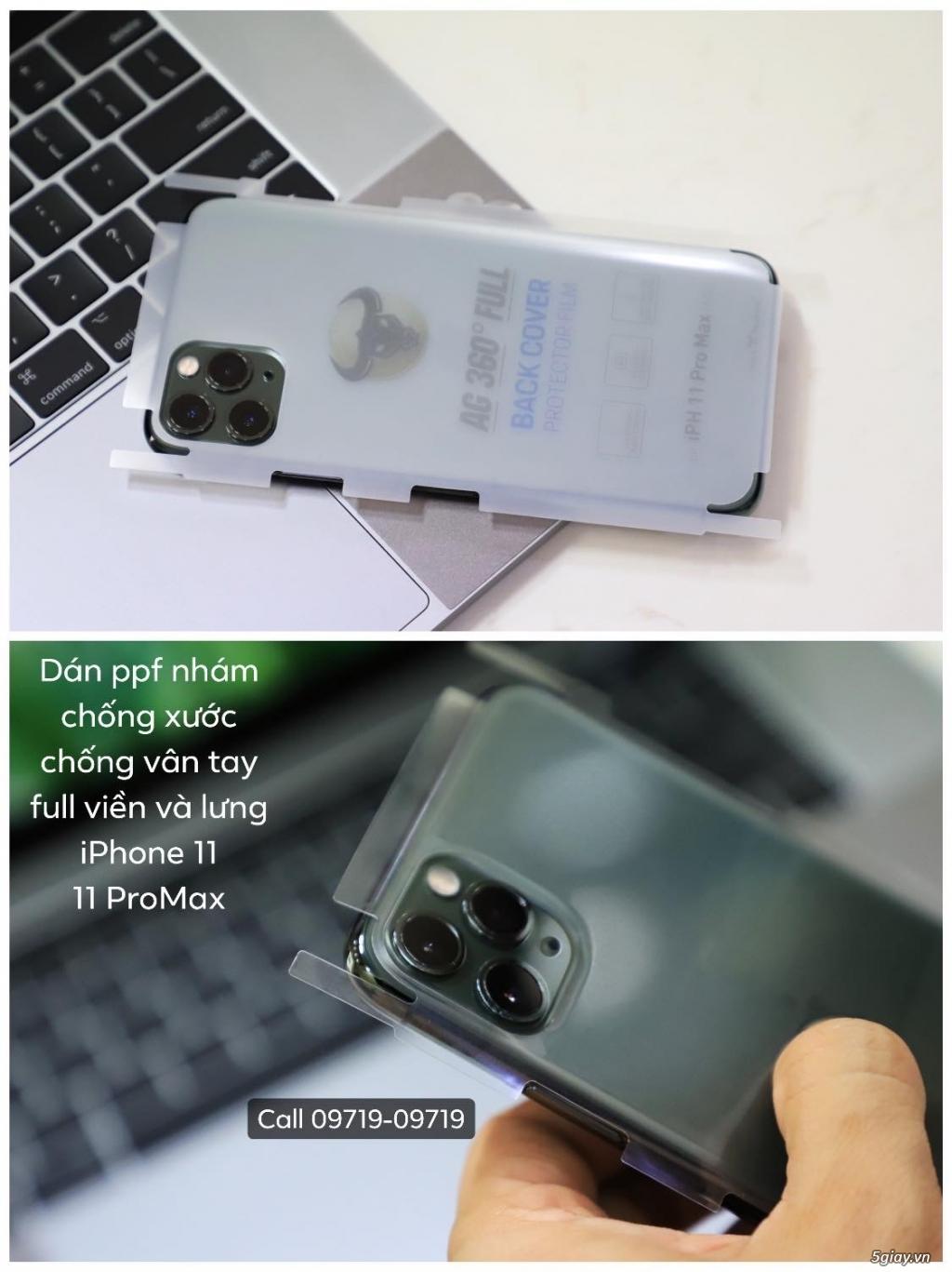 Dán PPF chống xước chống vân tay iPhone X/Xs/XsMax/XR - iPhone 11/11 ProMax .. End 22h59 -17/10/2019 - 3
