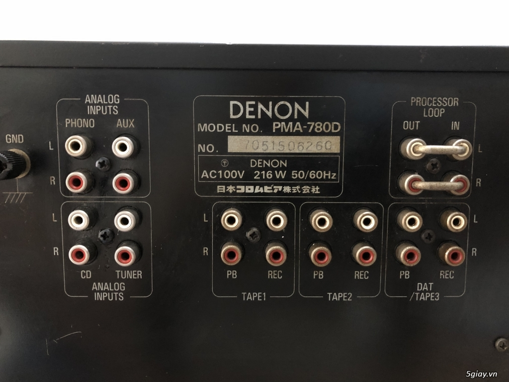Ampli DENON 780D Máy Đẹp Mguyên Bản - 4