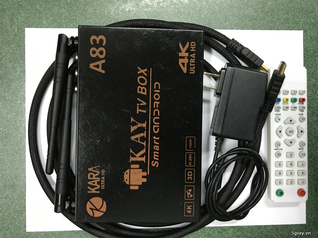 4K Smart tivi box Karaoke Kay A83 End: 23h00 ngày 18-10-2019 - 6