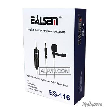 Micro ghi âm cho điện thoại Lavalier Ealsem ES 116