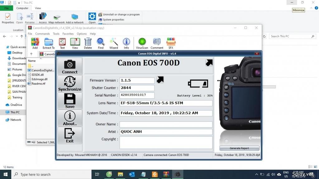 Canon 700D mới chụp 2k8 shot, len kit 18-55mm, tặng kèm chân máy