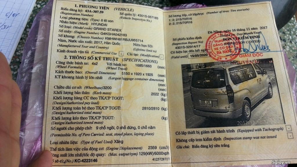 Bán xe Hyundai Starex 2017 máy xăng AT 2.4L nhập khẩu - 2