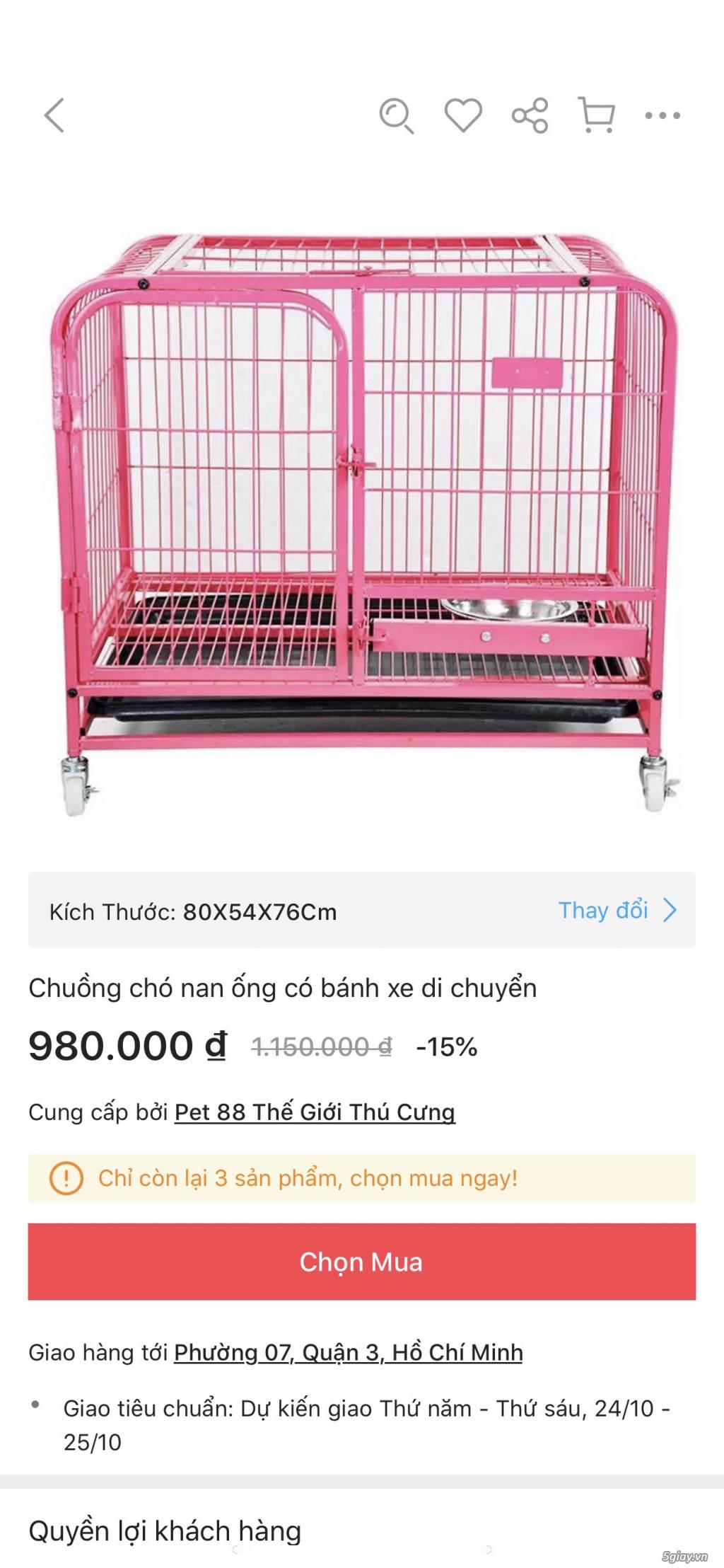 Cần bán: chuồng chó nan ống size M - 3