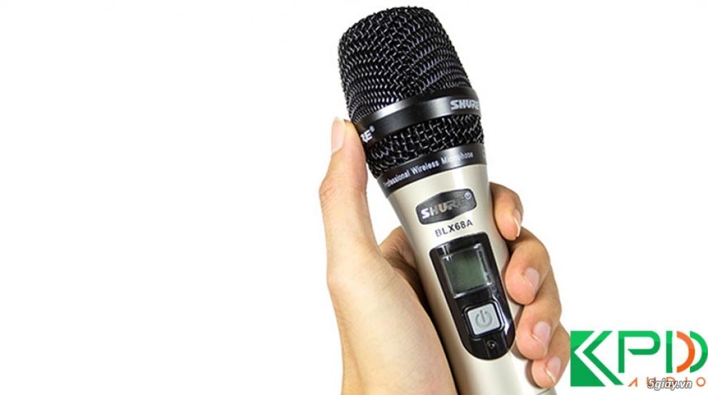 Micro không dây Shure BLX 68A lọc âm tốt, hút âm cực mạnh - 1