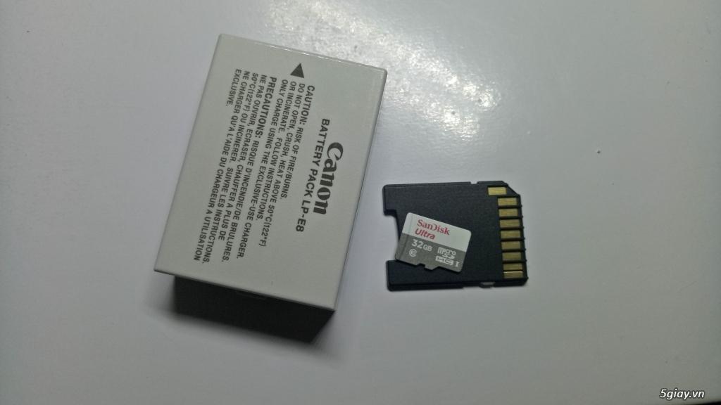 Cần bán Canon 700d kèm len kit 18-55mm và len 50mm1.8 - 3