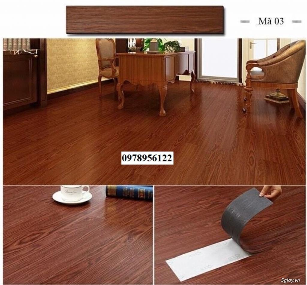 Sàn nhựa giả gỗ sẵn keo tự dính giá rẻ - 5