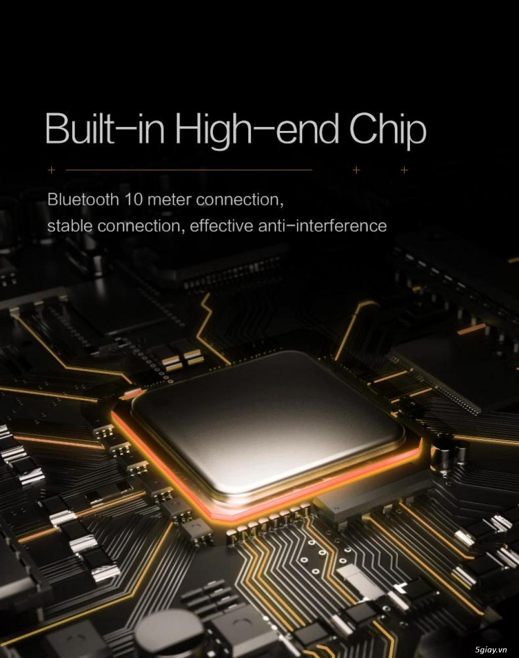 Bàn Phím Cơ Không Dây Bluetooth Cao Cấp, 61 Phím, Red Switch, LED Mono - 4