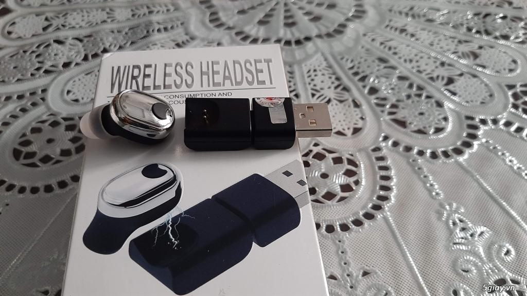 Tai nghe Bluetooth siêu nhỏ mới 100% sạc nam châm, xài cực ngon. End 23h ngày 09/11/2019 - 2