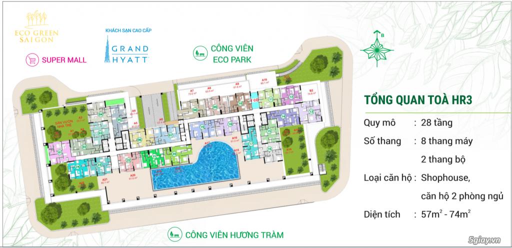 Eco Green Sài Gòn quận 7 - Booking tòa HR3 đẹp nhất dự án - 11