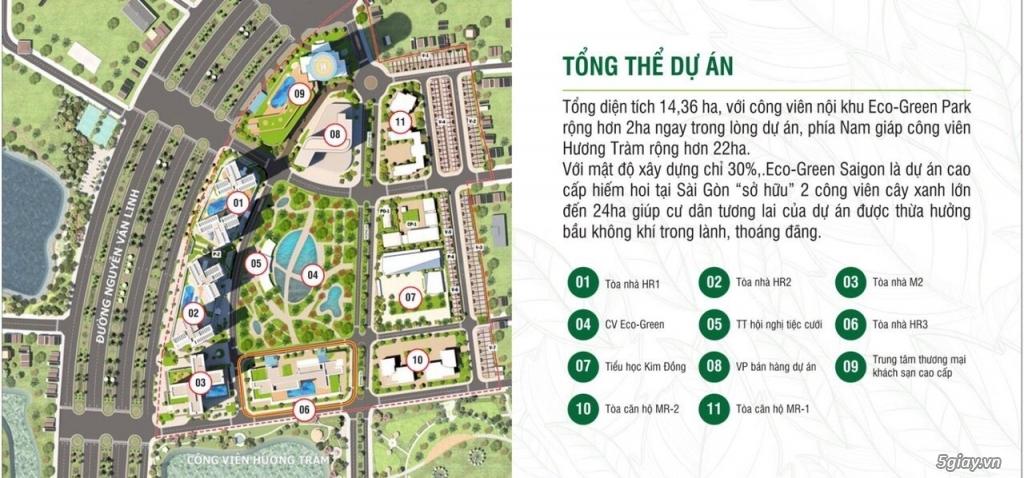 Eco Green Sài Gòn quận 7 - Mở bán đợt cuối tòa HR1, M2 & Ưu đãi đặc bi - 8