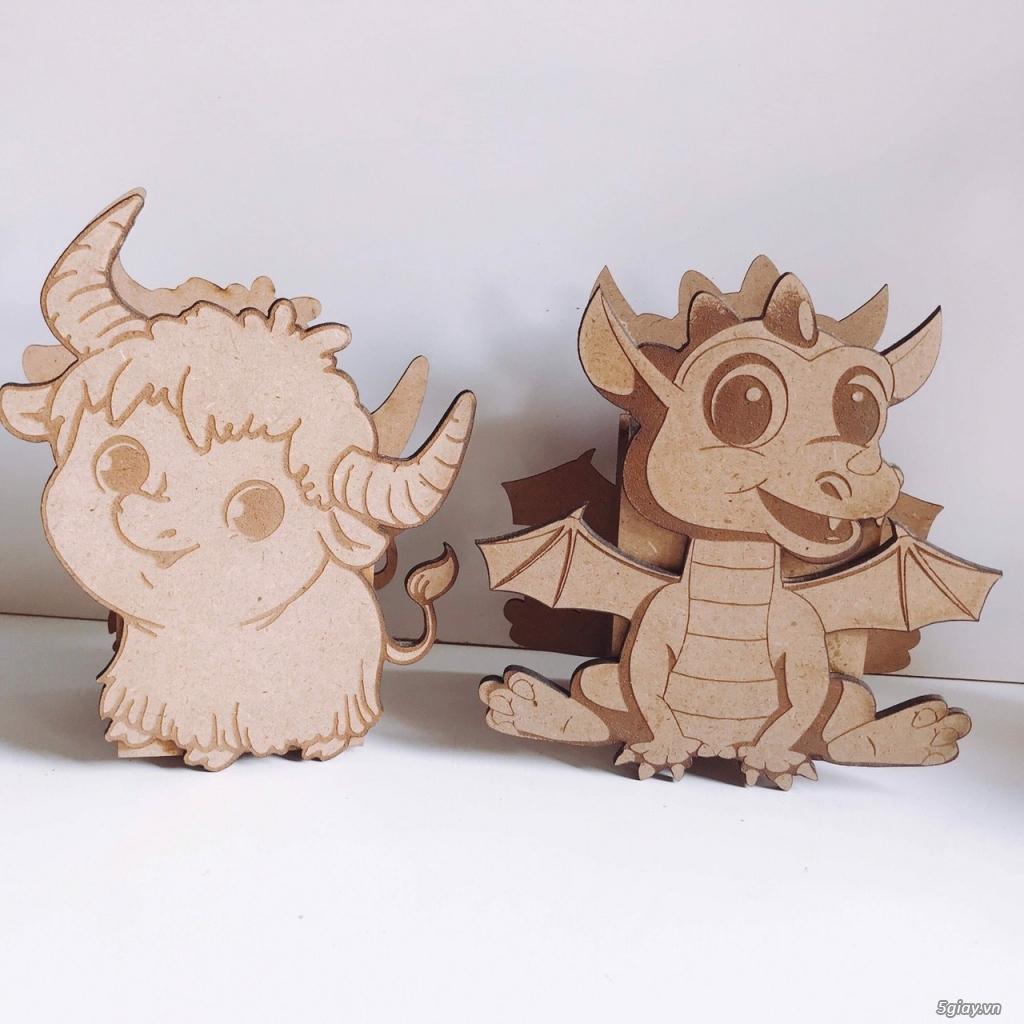 Hộp bút hình thú bằng gỗ - 1