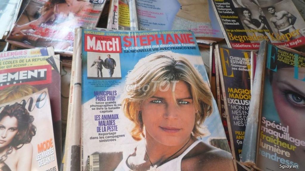 35 cuốn tạp chí ngoại củ , bán tất cả giá 500k