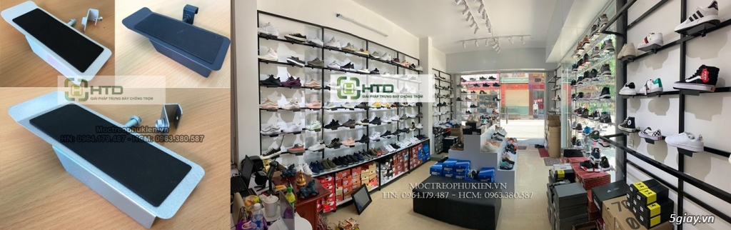 Giá kệ trưng bày giày dép cho shop thời trang năm 2019 - 14
