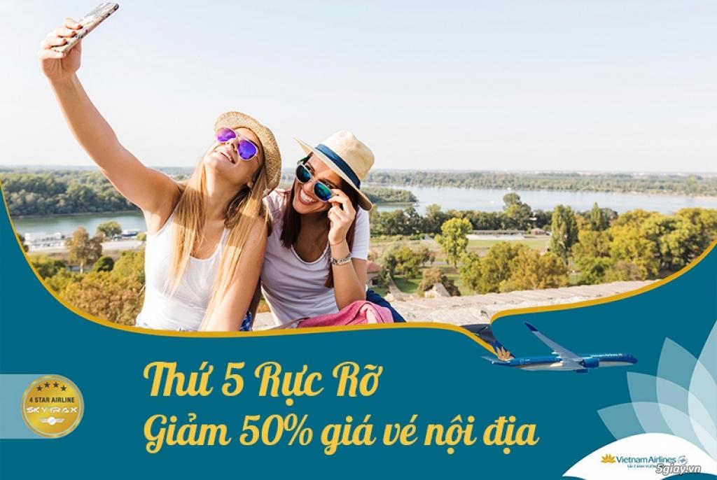 Khuyến mãi giảm 50% giá vé thứ 5 rực rỡ từ Vietnam Airlines
