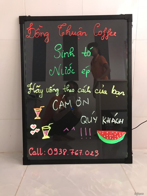 Bảng led huỳnh quang ghi menu cho Quán Ăn- Trà Sữa- Nail- Spa- Trà Cha
