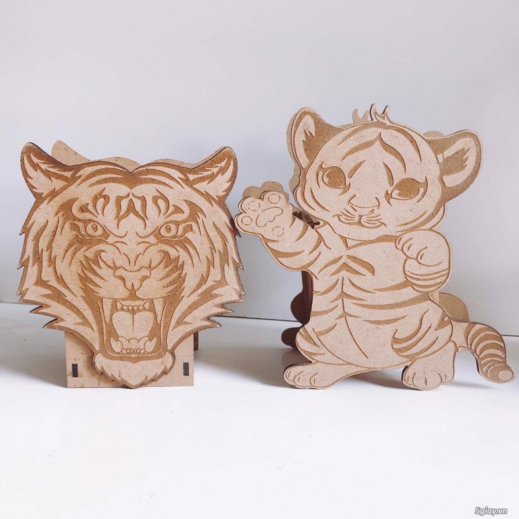 Hộp bút hình thú bằng gỗ