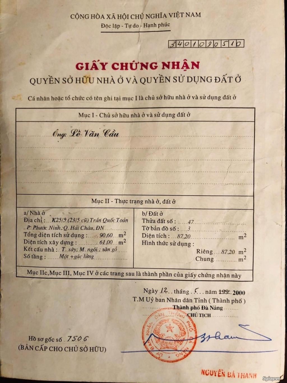 Chính chủ cần bán nhà Trần Quốc Toản, ngay trung tâm TP Đà Nẵng. - 1