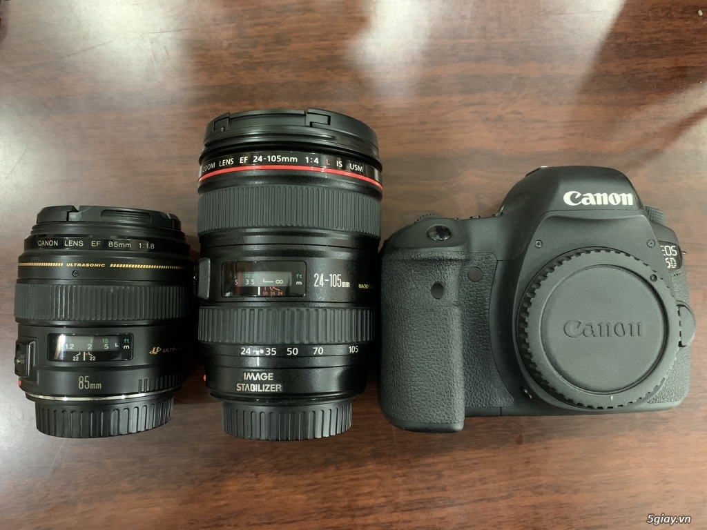 Cần bán Canon 6D, lens canon 24-105 1:4L IS USM, lens canon 85mm 1:1.8 - 3