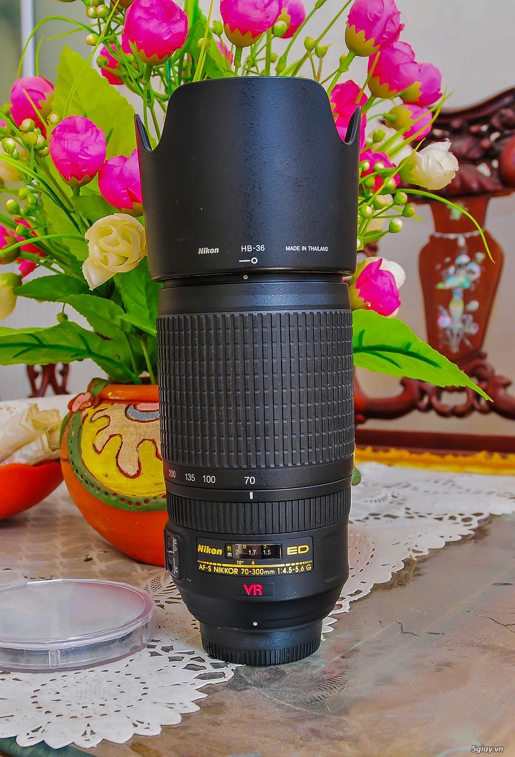 Bán lens Nikon 70-300/ 4.5-5.6 VR đẹp - 2