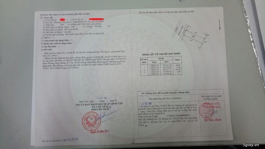 Bán Miếng Đất Quận Bình Tân 100m² - 4