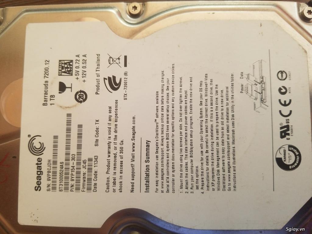 Thanh lý vài cái HDD máy bàn